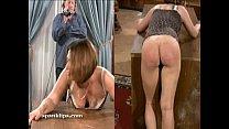 Upset bruntte is taken a serious spanking thumbnail