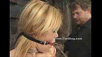 Blondie in red shirt bondage sex video thumbnail