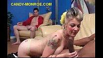 Image: Blonde Sucks A Real Black Dick