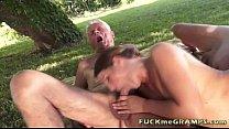 Lisbeth makes two grandpas horny thumbnail