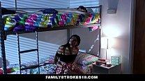 FamilyStrokes - Violet Rain Fucks Her Younger Stepbro In her Dorm pornhub video