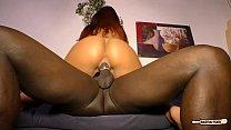 HAUSFRAU FICKEN - Black on white sex and cum on tits with mature German redhead Vorschaubild