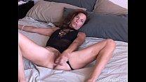 Super sexy slim old spunker masturbates & fucks the cameraman