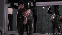 Maria Pie in Latex Strapon Cums thumbnail