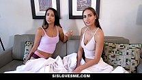 SisLovesMe - Stepbro Spunks In Slutty Sis and Hot Friend