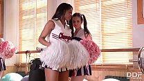 Horny Cheerleaders Nekane & Jasmine Webb Fuck their Trainer - 9Club.Top