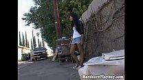 Horny asian babe spoils dude in car thumbnail