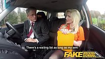 Fake Driving School Mature guy spunks over blonde bombshell Georgie lyall - 9Club.Top