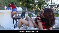 FamilyStrokes - Sexy Milf Joins Step-Son & Daug...