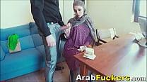 Job Seeking Arabian in Hijab Sucks For Food Money - download porn videos