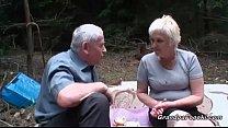 granny sucking grandpa