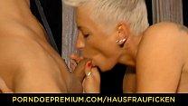 HAUSFRAU FICKEN - Alternative blonde German MILF pounded hard Vorschaubild
