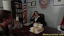 Classy Police Secretary Gets Fucked Deeply