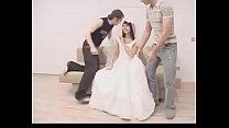 Redhead bride forced by two man pornhub video