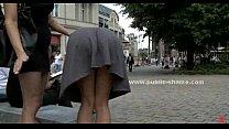 Slut humiliated in public sex video
