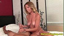Screenshot Beautiful matur e tugging hard cock cock