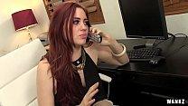 WANKZ- Female Boss Finds Hard Cock In Office