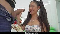 Oyeloca - Pigtailed Latin Cutie Hardcore Fucked