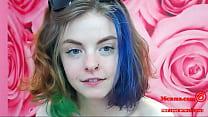 Hot Tattooed Girl with Dyed Hair Masturbate