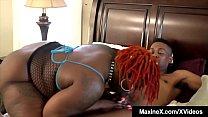 Asian Persuasion Maxine X With A BBW & 4 Black Cocks! صورة