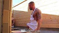 HD GayRoom - Muscle guy fucks friend after BBQ pornhub video