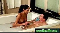 Busty japanesse masseuse gives nuru massage 17