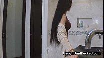 Hot big tit teen filmed on hidden cam Preview
