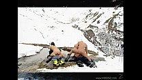 Русские нудисты на снегу видео