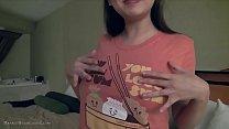 Cute busty asian girlfriend fngers in glasses