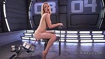 Hirsute blonde bangs speedy machine pornhub video