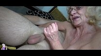 Grey old Granny likes young man