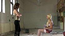 Stellar idol gets her spread snatch entire of warm pee and ejaculates