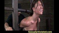 Bondage device makes her immobilized 1 pornhub video