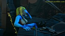 Hardcore 3D Animation Samus and Aliens Deepthroat and Vaginal