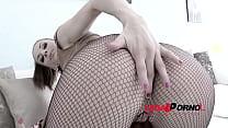 Super tight Victoria Daniels 5on1 mini gangbang with DP & cum swallow