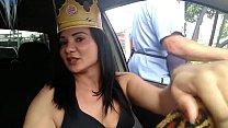 Aventuras no Uber do Sexo. Caçando Pica em Madureira acabei com a coroa do Burguer King