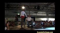 wild fetish orgy scandal on public show stage