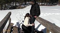 Azzurra Ist Geben Einen Blowjob Im Freien :) Keine Genehmigung Erforderlich, Um Den Schwanz Lutschen!