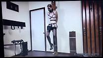 BDSM Wooden Post Pleasure Pain Porn thumbnail
