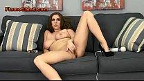 Busty Brunette Spreads Her Legs pornhub video