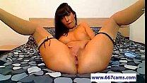 Sexy petite camgirl in stockings masturbates on cam - 667cams.com tumblr xxx video