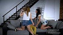 Threesome - Kira Thorn - Girlsrimming - Nataly Gold thumbnail