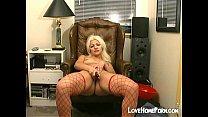 Sexy blond girl masturbates