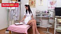 Bresty Alexa Bold opens her latex nurse uniform Thumbnail