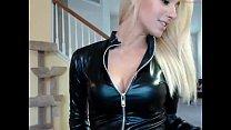 69webcam.net - hot blonde in leather webcam