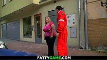 Huge boobs chubby blonde plumper pleases a stranger