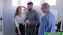 Busty boss fucks best employee as reward