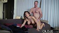 vjav.com, Big Tits Beautiful Teen 19Yo Hardcore Old Young Sex Fuck Blowjob Swallow thumbnail
