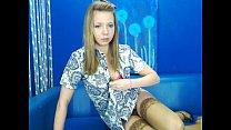 cute belgian teen naked and masturbating cam image