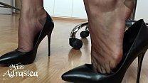 Miss Adrastea Nylonfeet under table thumbnail